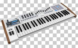 ARP 2600 Arturia KeyLab 49 MIDI Keyboard Sound Synthesizers PNG