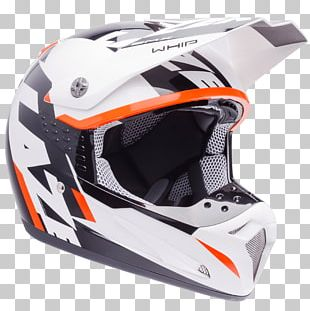 Motorcycle Helmet Lazer SMX Whip White Black Orange PNG