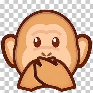 Three Wise Monkeys Emoji Evil Symbol PNG