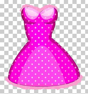 Polka Dot Clothing Accessories Doll Dress PNG
