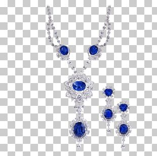 Sapphire Earring Necklace Jewellery Gemstone PNG