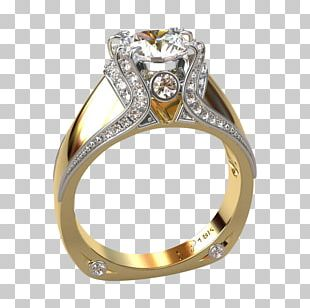 Gold Engagement Ring Wedding Ring Greg Neeley Designs PNG