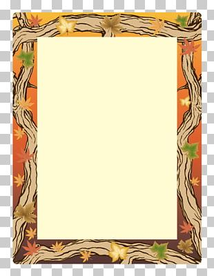 Paper Microsoft Word Autumn Template PNG