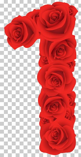 Red Roses One Number PNG