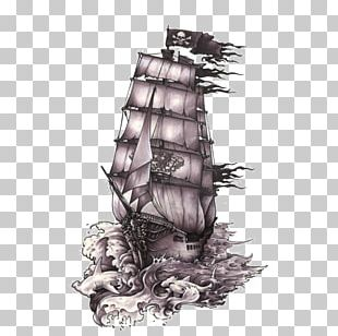 Drawing Ship Piracy Art Tattoo PNG