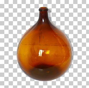 Glass Bottle Vase Caramel Color PNG