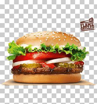 Whopper Cheeseburger Hamburger Chicken Sandwich Fast Food PNG