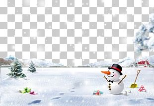 Snowman Christmas Snowflake Winter PNG