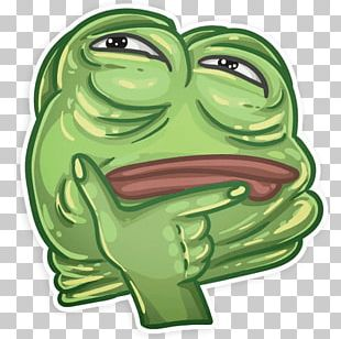 Emoji Thought Sticker Discord Pepe The Frog PNG, Clipart
