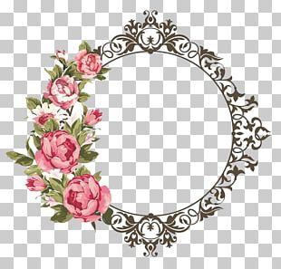 Frames Flower Watercolor Painting PNG