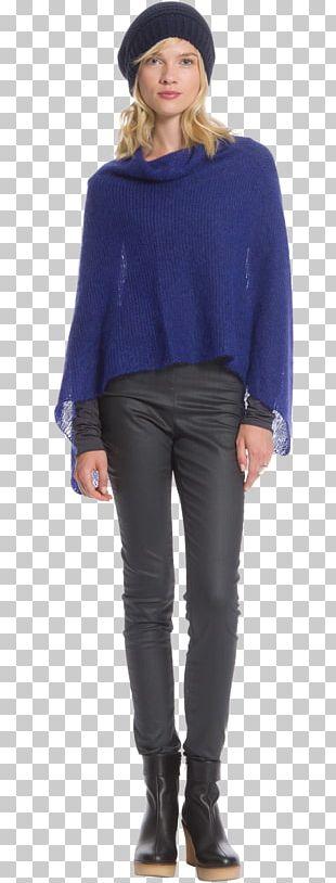 Jeans Cobalt Blue Shoulder Sleeve Fedora PNG