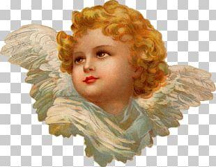 Victorian Era Cherub Angel Christmas Spirit PNG