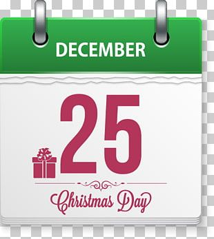 Calendar Christmas Letters Painted Element PNG