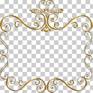 Frames Black And White Gold PNG