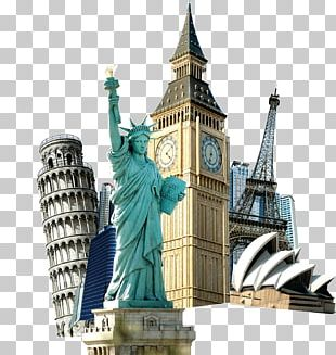 Statue Of Liberty Eiffel Tower Travel Tourism PNG