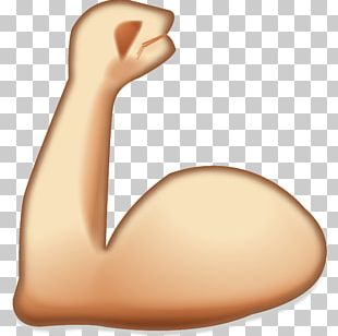 Emoji Muscle Sticker Arm Icon PNG