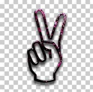 Craft Magnets V Sign Peace Symbols Finger PNG