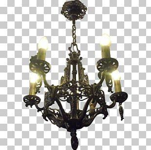 Chandelier Lighting Light Fixture Antique Glass PNG