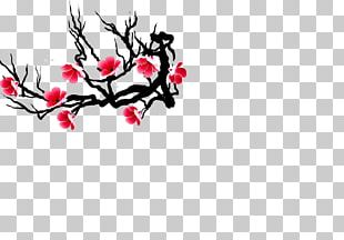 Cherry Blossom Branch Petal PNG