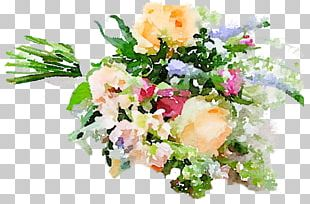 Watercolour Flowers Flower Bouquet Cut Flowers Floral Design PNG
