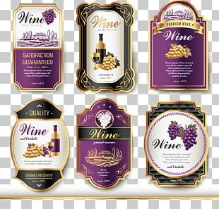 Wine Label Vintage PNG