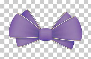 Bow Tie Purple PNG