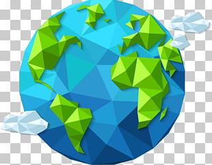 Earth Day Planet Polygon Shape PNG