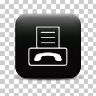 Black Fax Computer Icons Internet Fax PNG