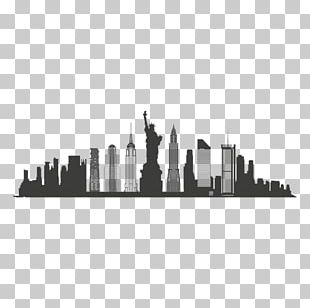 New York City Skyline Silhouette PNG