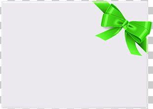 Paper Green Leaf Font PNG