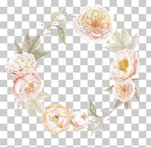 Wedding Invitation Border Flowers Wreath PNG