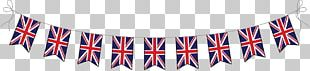 United Kingdom Union Jack Bunting Flag PNG