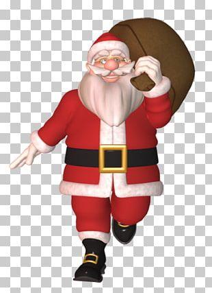 Santa Claus Christmas Cartoon Football PNG