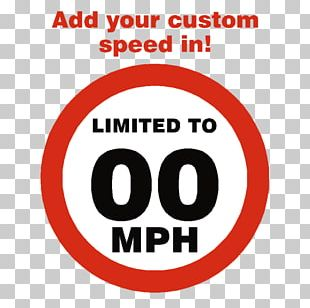 Sticker Signage Speed Limit Label Miles Per Hour PNG