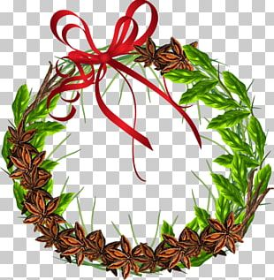 Wreath Leaf Food Christmas Ornament PNG