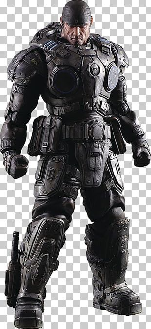 Gears Of War Marcus Fenix Play Arts Kai Action Figure Gears Of War Marcus Fenix Play Arts Kai Action Figure Action & Toy Figures Video Games PNG