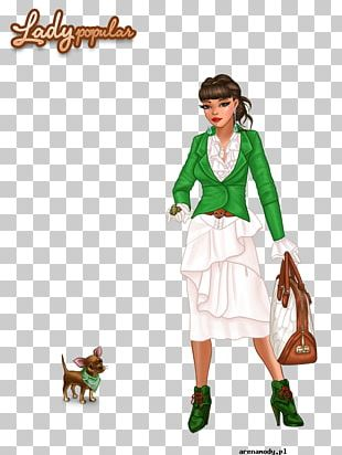 Lady Popular Costume Designer Fashion Dress-up PNG