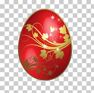 Red Easter Egg PNG