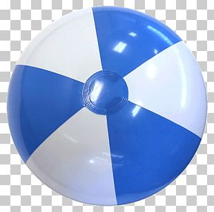 Beach Ball Light Blue White PNG