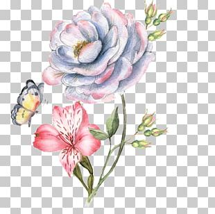 Flower Paper Watercolor Painting PNG