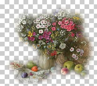 Floral Design Still Life By A Window Painting PNG