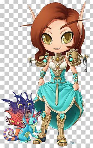 World Of Warcraft Art Chibi Blood Elf Anime PNG