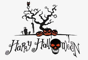 Happy Halloween Background Material PNG