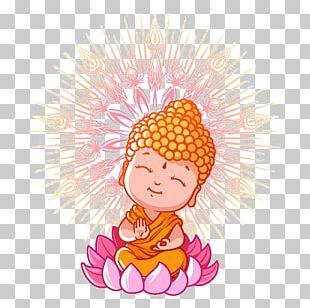 Buddhism Cartoon Buddhist Meditation Illustration PNG