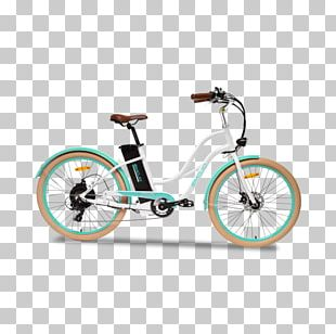 Electric Bicycle Cruiser Bicycle Step-through Frame PNG