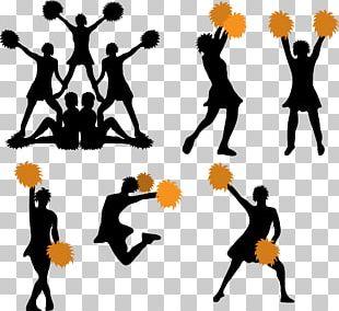 Cheerleading Pom-pom Silhouette PNG