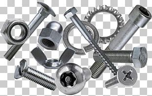 Nut Bolt Fastener Screw Stainless Steel PNG