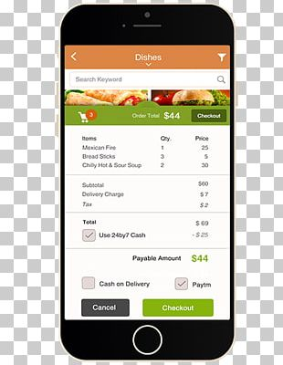 Smartphone Restaurant Online Food Ordering Mobile App Development PNG