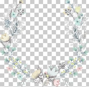 Wedding Invitation Flower Wreath Baby Shower PNG