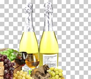 White Wine Champagne Fruit Grape PNG